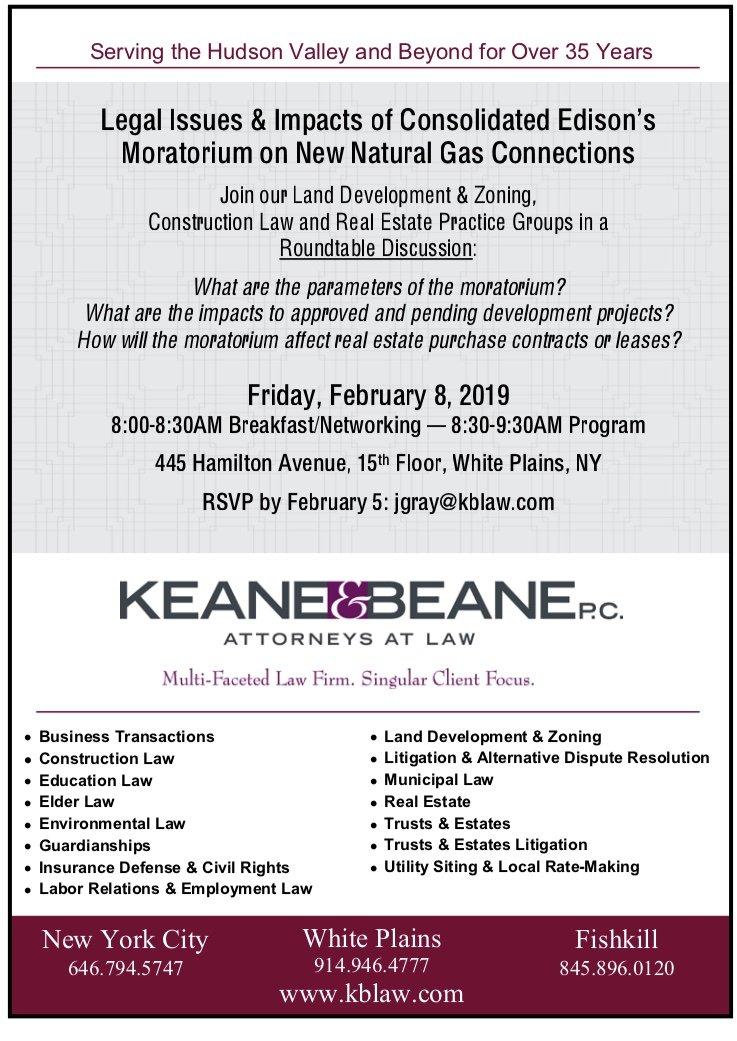 ConED Roundtable - Keane & Beane P C